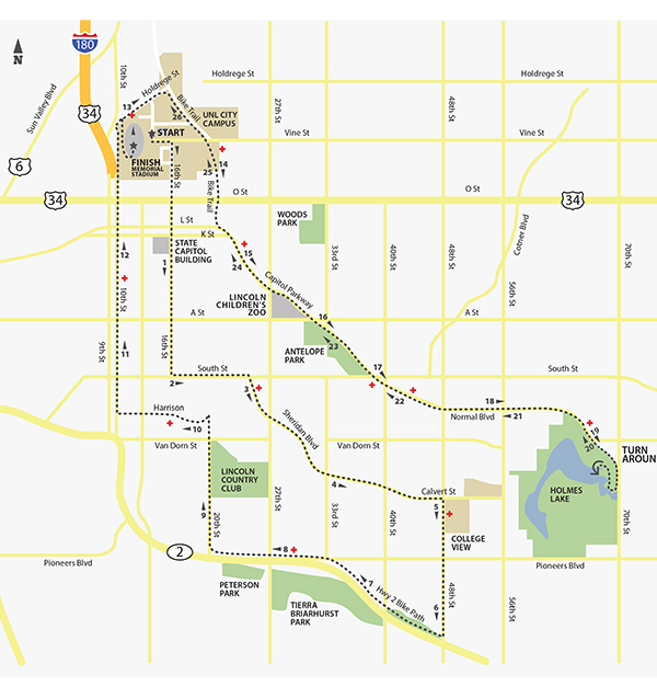 Marathon Course from Email